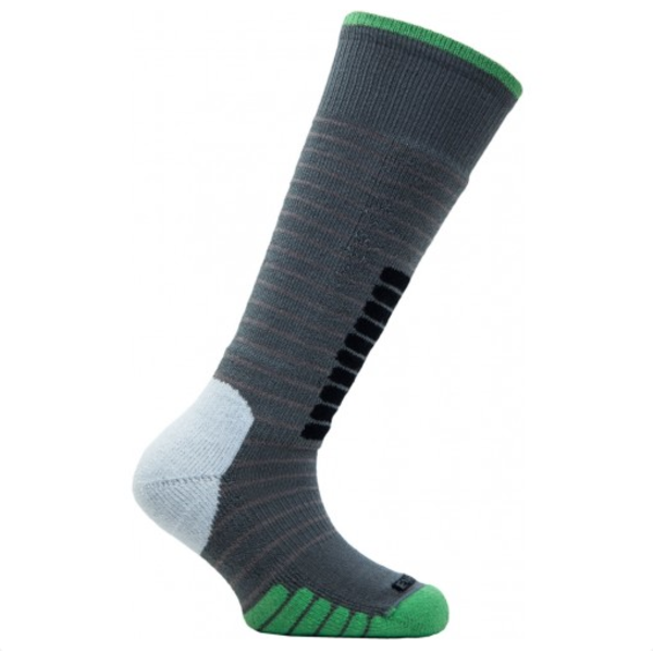 SKI SUPREME JR SOCKS - GREY/GREEN