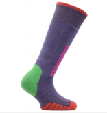 EUROSOCKS SKI SUPREME JR SOCKS - MAUVE/LAVA