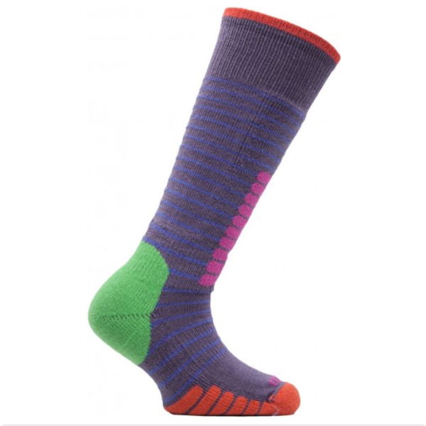 SKI SUPREME JR SOCKS - MAUVE/LAVA - XXSMALL 11.5-13.5 ONLY