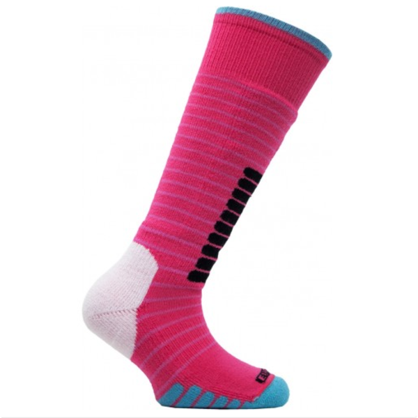 SKI SUPREME JR SOCKS - PINK/JADE