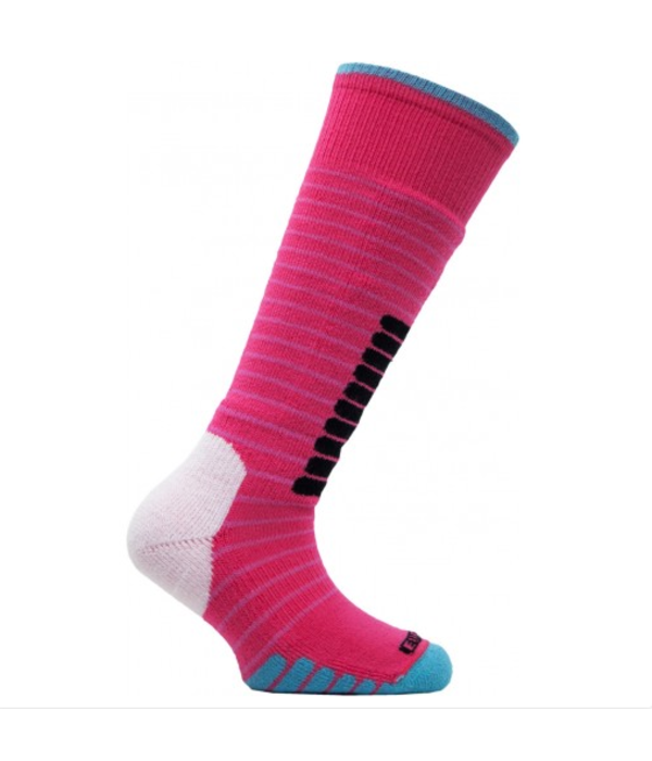 EUROSOCKS SKI SUPREME JR SOCKS - PINK/JADE