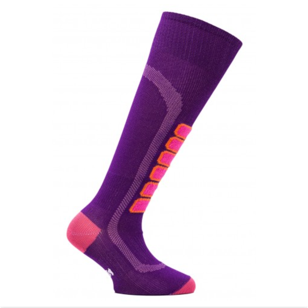 SKI LIGHT JR SOCKS - PURPLE/PINK