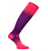 EUROSOCKS ULTRALITE SILVER SOCKS - PINK/PURPLE