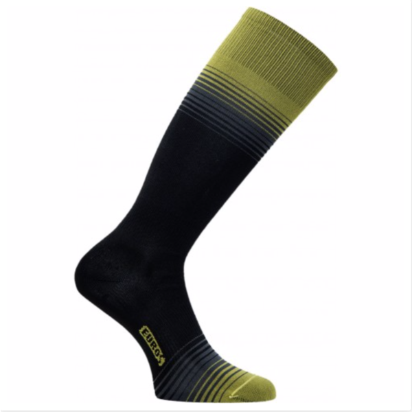 ULTRALITE SILVER SOCKS - BLACK/YELLOW