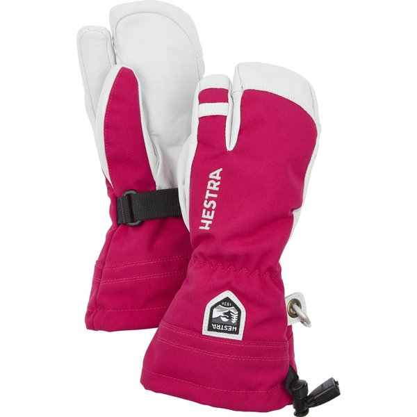 HELI SKI JR 3-FINGER MITT - HOT PINK