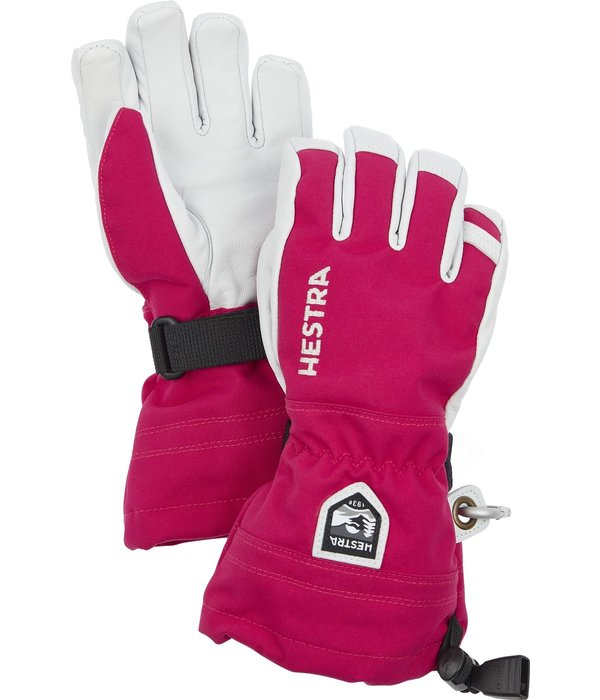 HESTRA HELI JR SKI GLOVE - HOT PINK