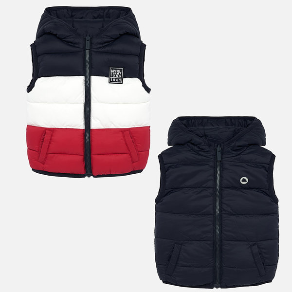 INFANT BOYS PADDED REVERSIBLE VEST - RED - SIZE 6 MONTHS ONLY