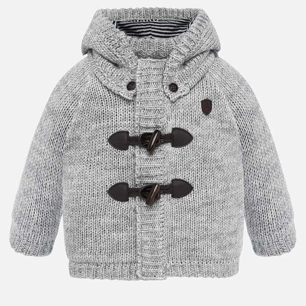 INFANT BOYS KNIT PULLOVER - GREY