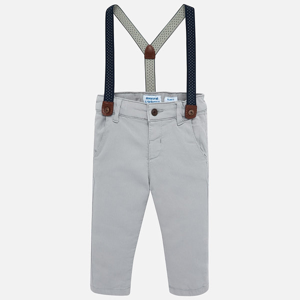 INFANT BOYS CHINO PANTS - GREY
