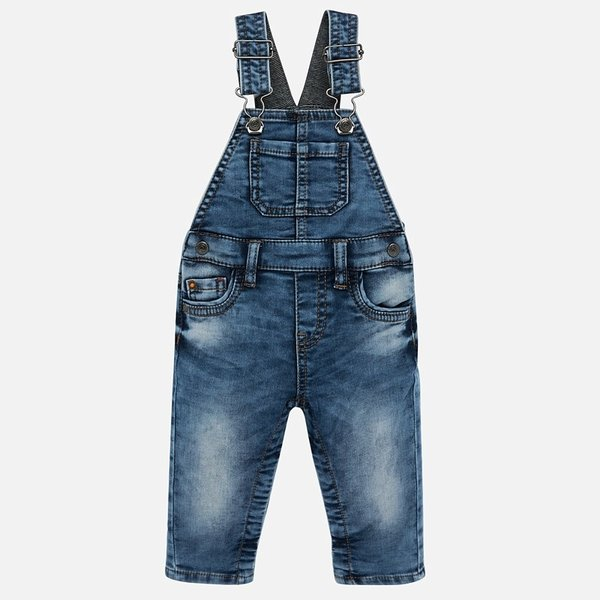 INFANT BOYS DENIM OVERALLS - DENIM - SIZE 18 MONTHS ONLY