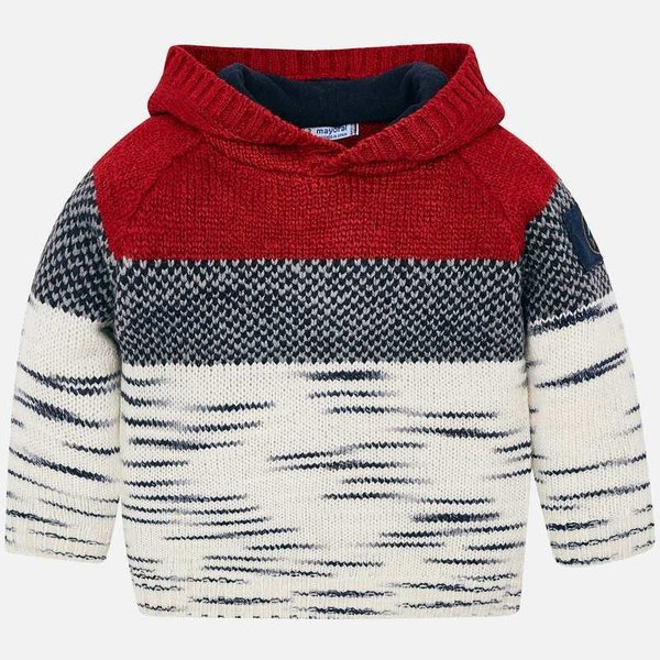 PRESCHOOL BOYS SWEATER PULLOVER - RED - SIZE 2 ONLY