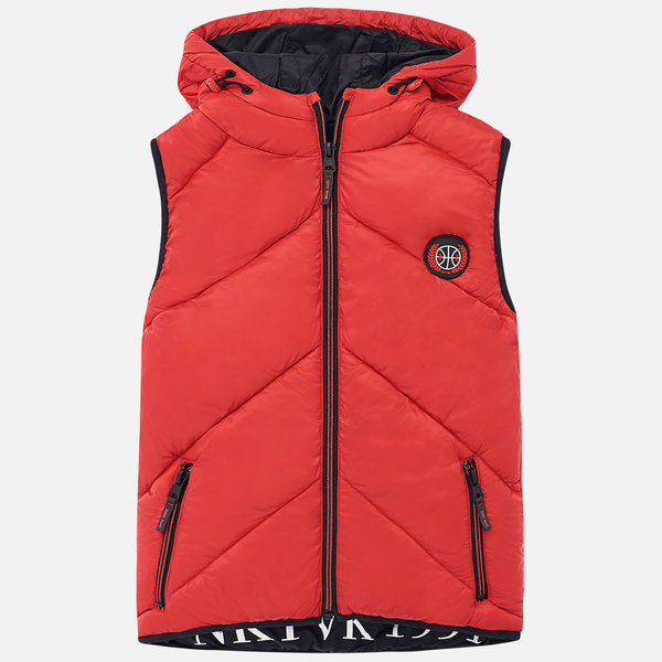 JUNIOR BOYS PADDED VEST - RED - SIZE 18 ONLY