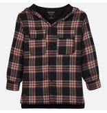 MAYORAL JUNIOR BOYS CHECKED OVERSHIRT - BLACK - SIZE 14 ONLY