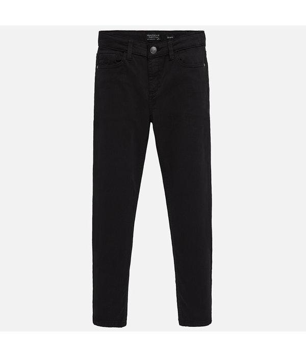 MAYORAL JUNIOR BOYS BASIC PANT - BLACK - SIZE 16 ONLY