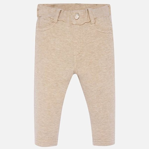 INFANT GIRLS FLEECE PANTS - TOASTED