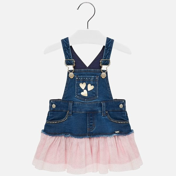 INFANT GIRLS TULLE OVERALL SKIRT - ROSE - SIZE 6 MONTHS ONLY