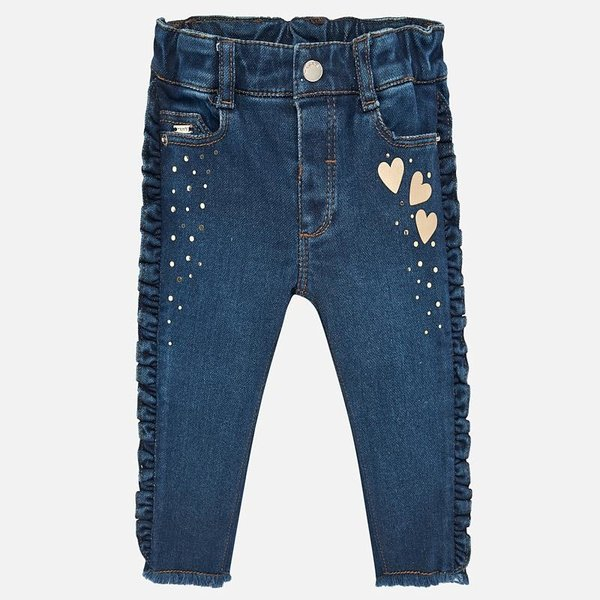 INFANT GIRLS DENIM PANTS - BASIC