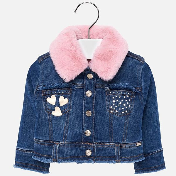 INFANT GIRLS DENIM JACKET - BASIC