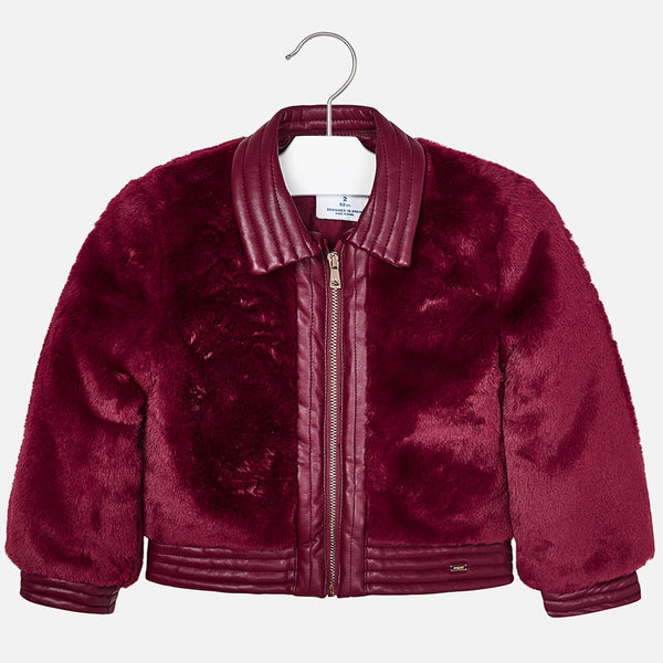 PRESCHOOL GIRLS FAUX FUR COAT - RUBY