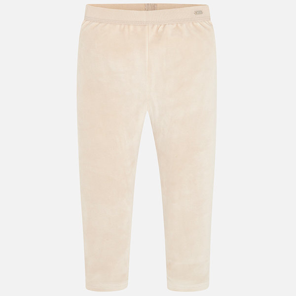 PRESCHOOL GIRLS VELVET LEGGINGS - BEIGE
