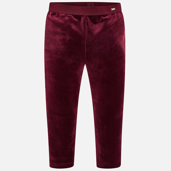 PRESCHOOL GIRLS VELVET LEGGINGS - RUBY