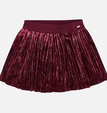 MAYORAL PRESCHOOL GIRLS PLEATED VELVET SKIRT - RUBY