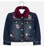 MAYORAL PRESCHOOL GIRLS FAUX FUR DENIM JACKET - BASIC