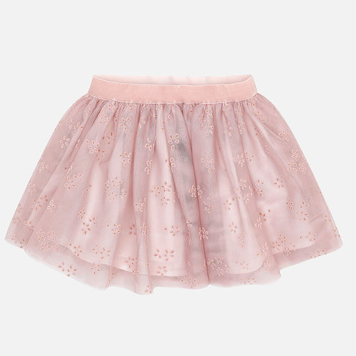 MAYORAL PRESCHOOL GIRLS TULLE SKIRT - NUDE -  SIZE 2 ONLY