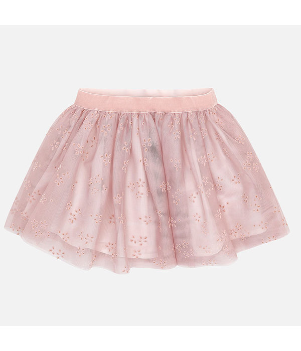 MAYORAL PRESCHOOL GIRLS TULLE SKIRT - NUDE