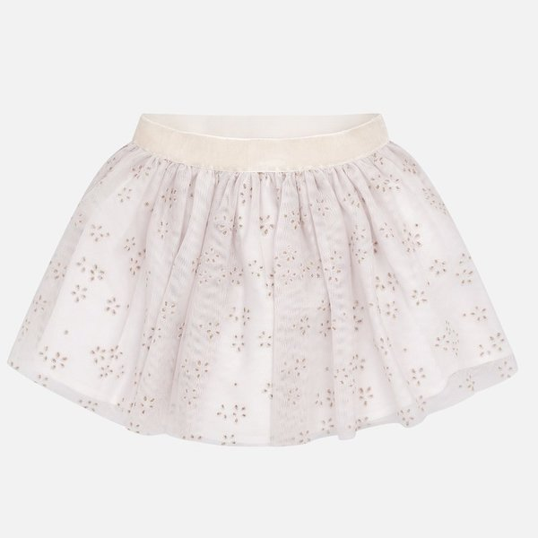 PRESCHOOL GIRLS TULLE SKIRT - BEIGE - SIZE 2 ONLY