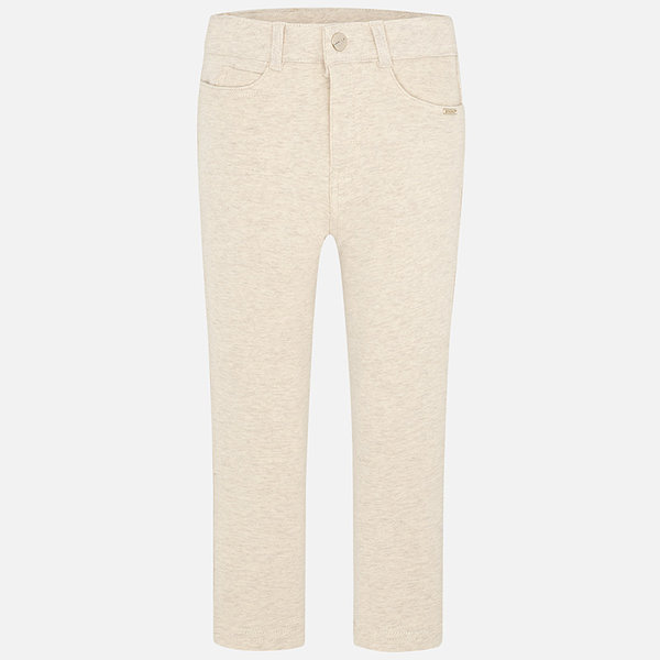 PRESCHOOL GIRLS FLEECE PANTS - BRIGHT BEIGE