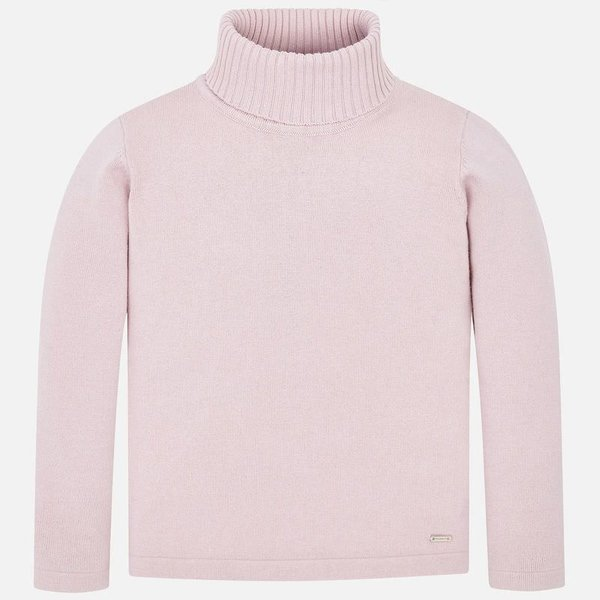 PRESCHOOL GIRLS KNITTED TURTLENECK - NUDE