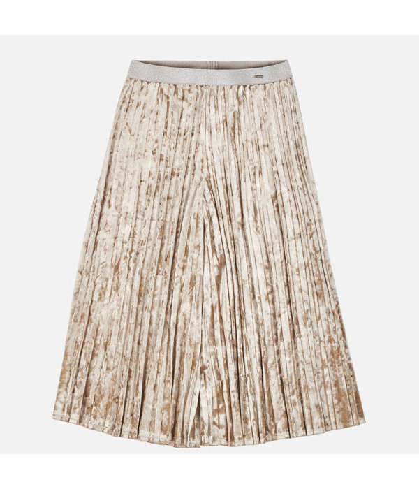 MAYORAL JUNIOR GIRLS VELVET SKIRT - BEIGE