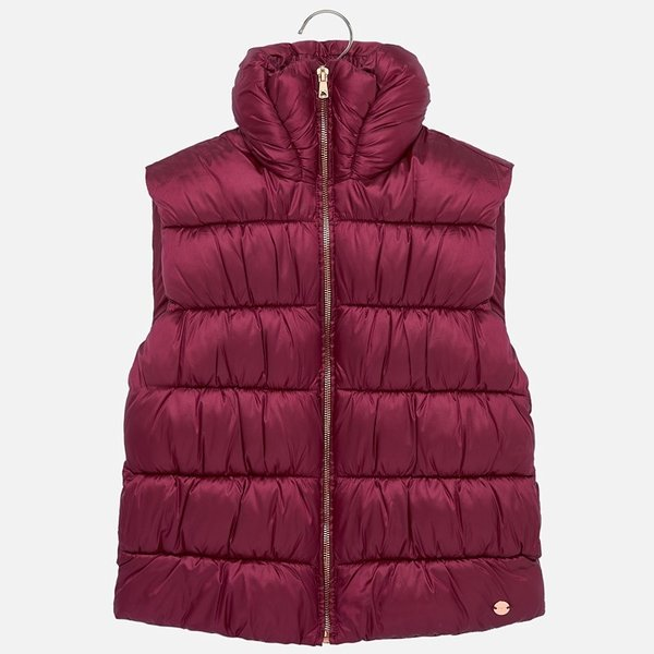 JUNIOR GIRLS PADDED VEST - RUBY - SIZE 18 ONLY