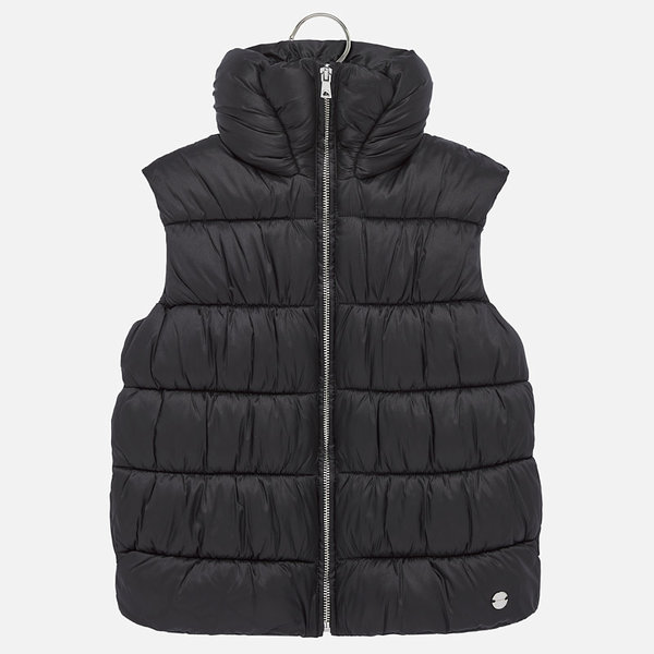 JUNIOR GIRLS PADDED VEST - BLACK