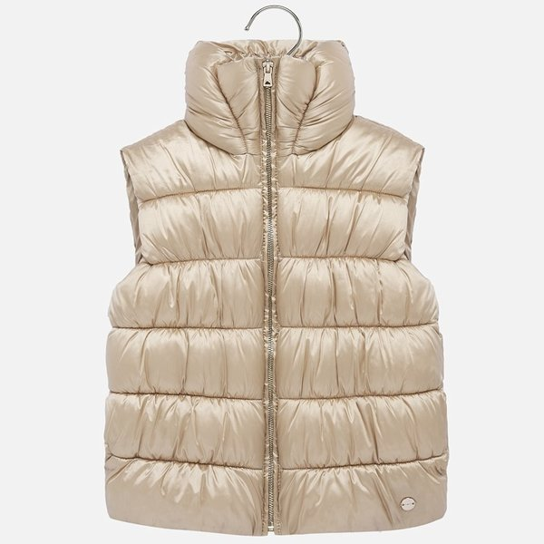 JUNIOR GIRLS PADDED VEST - GOLDEN - SIZE 18 ONLY