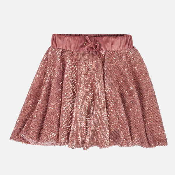 JUNIOR GIRLS SEQUINS SKIRT - CRYSTAL