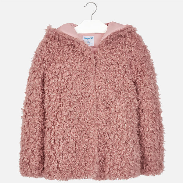 JUNIOR GIRLS FAUX FUR COAT - CRYSTAL
