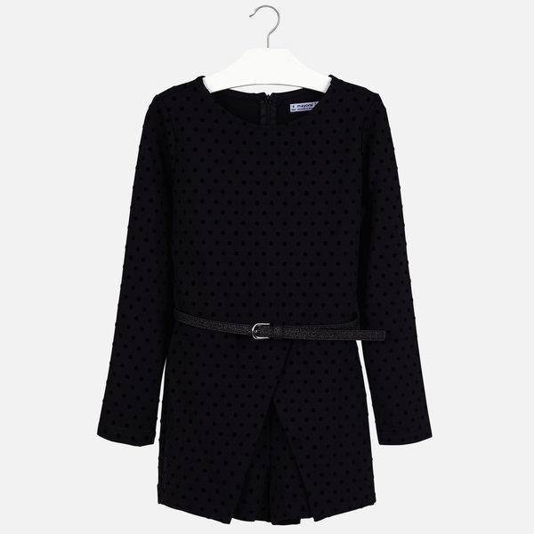 JUNIOR GIRLS POLKA DOT ROMPER - BLACK
