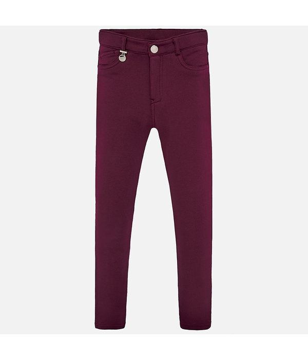 MAYORAL JUNIOR GIRLS FLEECE PANTS - RUBY - SIZE 18 ONLY