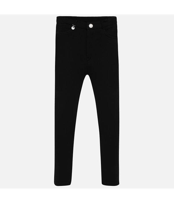 MAYORAL JUNIOR GIRLS FLEECE PANTS - BLACK