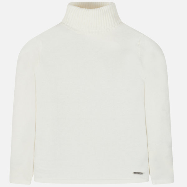 JUNIOR GIRLS KNIT TURTLENECK - NATURAL