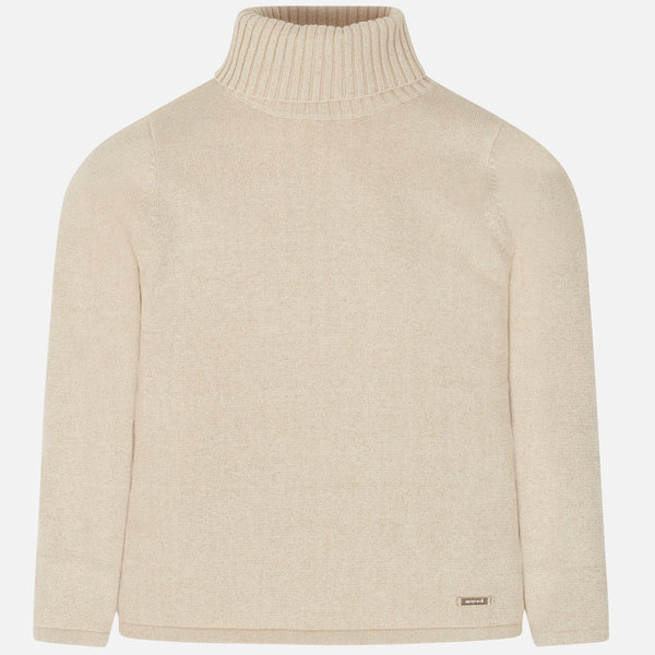 JUNIOR GIRLS KNIT TURTLENECK - BEIGE
