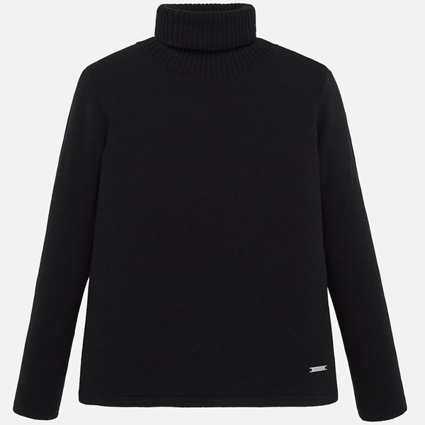 JUNIOR GIRLS KNIT TURTLENECK - BLACK