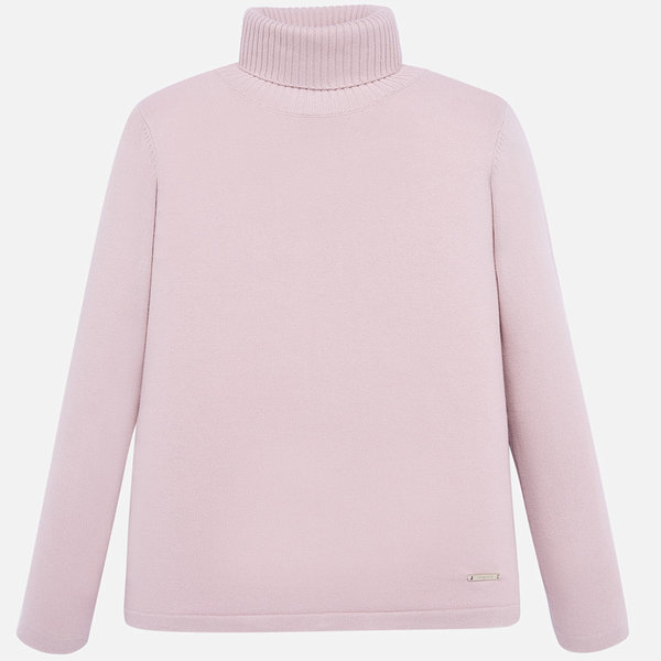 JUNIOR GIRLS KNIT TURTLENECK - NUDE