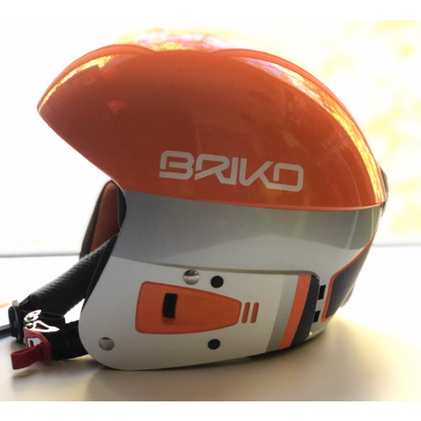 VULCANO FIS JR ADJUSTABLE HELMET - ORANGE/WHITE - SIZE 48-52CM