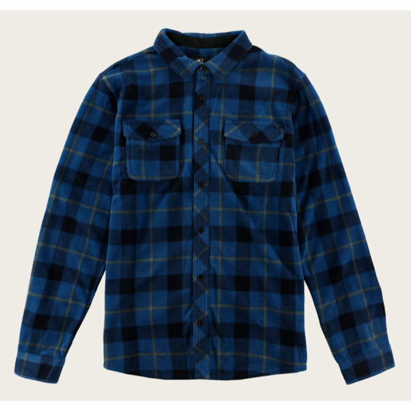 JUNIOR BOYS GLACIER PLAID SHIRT - DARK BLUE