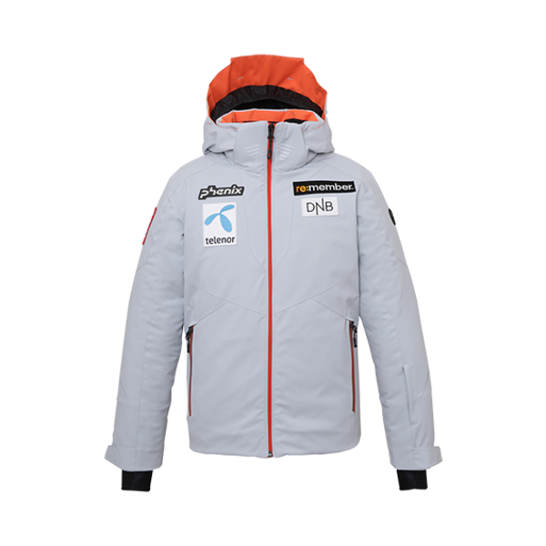 NORWAY ALPINE TEAM JR JACKET - GREY/PATCHES