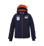 PHENIX NORWAY ALPINE TEAM JR JACKET - BLUE/PATCHES - SIZE 14 ONLY