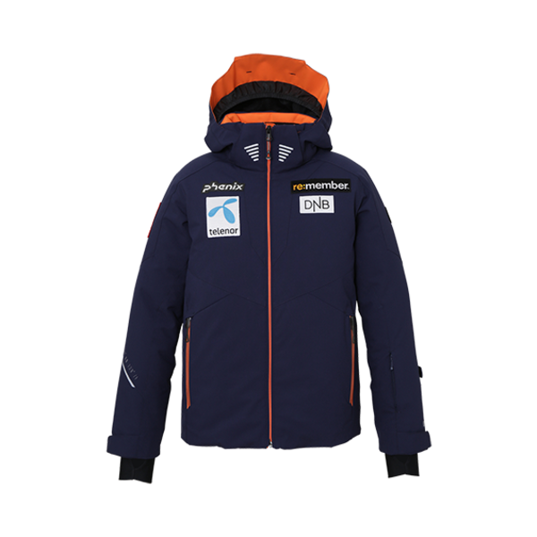 NORWAY ALPINE TEAM JR JACKET - BLUE/PATCHES